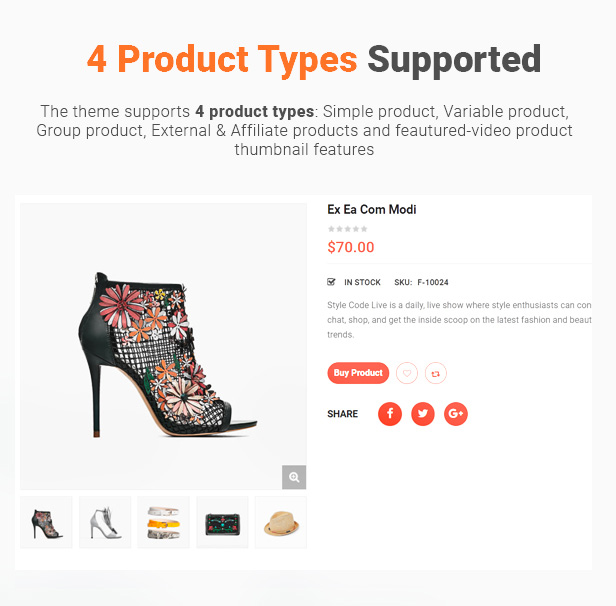 11 product types supported - eMarket - Multi Vendor MarketPlace Elementor WordPress Theme (34+ Homepages & 3 Mobile Layouts)