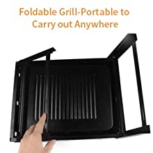 115404bd c330 435f 8f1a bcd661cf753c.  CR0,0,220,220 PT0 SX220 V1    - UTTORA Barbecue Grill, Charcoal Grill Portable Folding BBQ Grill Barbecue Desk Tabletop Outdoor Stainless Steel Smoker BBQ for Picnic Garden Terrace Camping Travel 15.35''x11.41''x2.95''