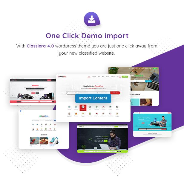 15 demo import - Classiera – Classified Ads WordPress Theme
