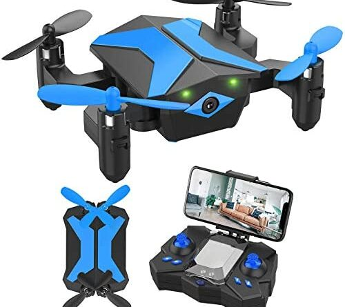 1623061821 51uxXhwQ25L. AC  500x445 - Drone with Camera Drones for Kids Beginners, RC Quadcopter with App FPV Video, Voice Control, Altitude Hold, Headless Mode, Trajectory Flight, Foldable Kids Drone Boys Gifts Girls Toys-Light Blue