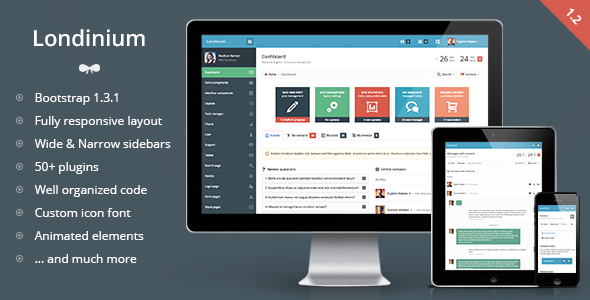1623634446 558 01 preview.  large preview - Londinium - responsive bootstrap 3 admin template