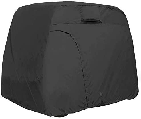1623841114 31AsA5mv2TL. AC  - Explore Land 600D Waterproof Golf Cart Cover Universal Fits for Most Brand 4 Passenger Golf Cart