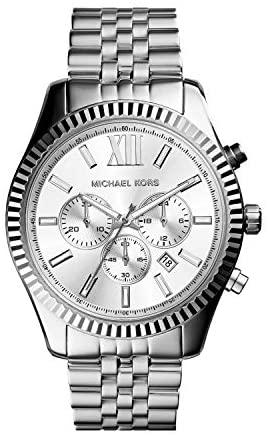 1624491178 41wrZU8YLQL. AC  - Michael Kors Lexington Chronograph Stainless Steel Watch