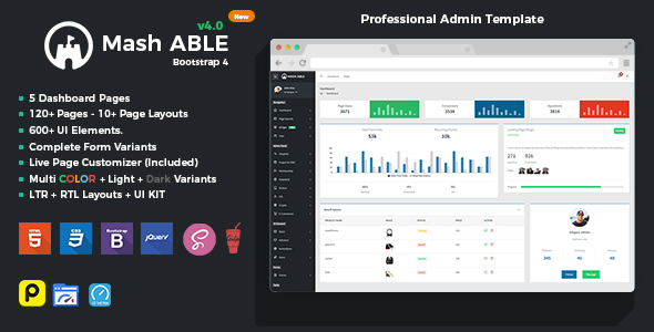 1624977030 609 01 preview.  large preview - Mash Able Bootstrap 4 Admin Template & UI kit