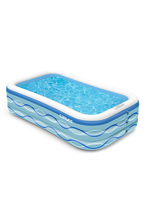 """1ad9973f b0bb 4090 b5b8 f03e2fcff481.  CR0,0,300,400 PT0 SX300 V1    - COOYES Inflatable Pool, Swimming Pool for Kids 118"""" X 72"""" X 20"""" Full-Sized Inflatable Kiddie Pool for Outdoor, Garden, Summer Water Party"""