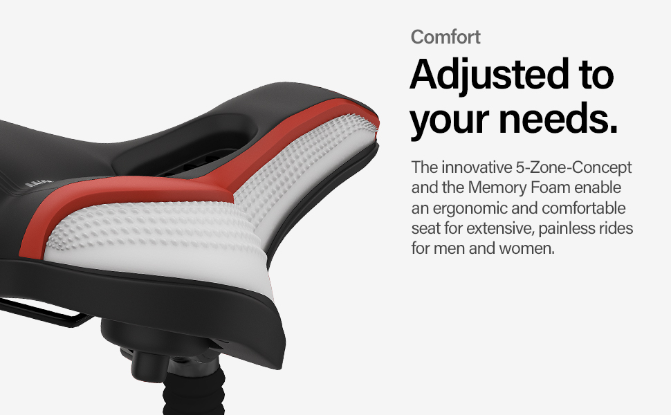 1b47f2db 66bf 4201 addd c83a5445e402.  CR0,0,970,600 PT0 SX970 V1    - Wittkop Bike Seat [City] Bicycle Seat for Men and Women, Waterproof Bike Saddle with Innovative 5-Zone-Concept Exercise Bike Seat - Wide Bike Seat