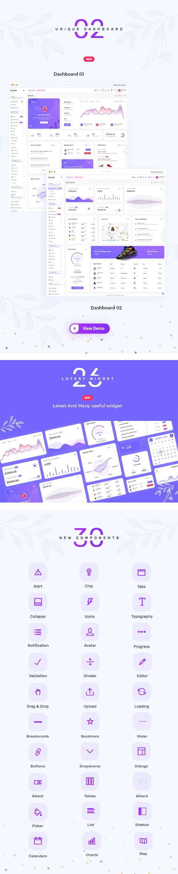 2 - Cuba- Bootstrap 4 & 5 HTML, React, Angular 11, VueJS & Laravel Admin Dashboard Template