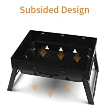 205508a2 ec63 47b4 a5a4 fe0ef586adbd.  CR0,0,220,220 PT0 SX220 V1    - UTTORA Barbecue Grill, Charcoal Grill Portable Folding BBQ Grill Barbecue Desk Tabletop Outdoor Stainless Steel Smoker BBQ for Picnic Garden Terrace Camping Travel 15.35''x11.41''x2.95''