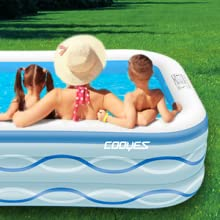 """24062ef5 6a9c 432b a8d6 f8d9106f968d.  CR0,0,300,300 PT0 SX220 V1    - COOYES Inflatable Pool, Swimming Pool for Kids 118"""" X 72"""" X 20"""" Full-Sized Inflatable Kiddie Pool for Outdoor, Garden, Summer Water Party"""
