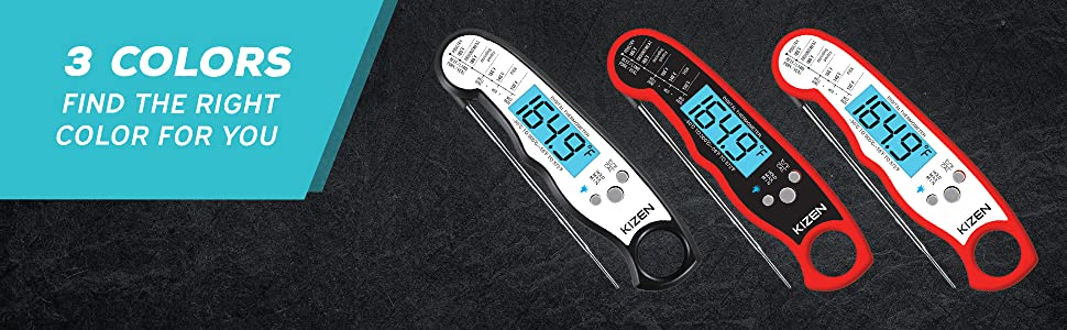 2cd4def7 149b 4fe2 85c4 a686088fa858.  CR0,0,1940,600 PT0 SX970 V1    - Kizen Digital Meat Thermometers for Cooking - Waterproof Instant Read Food Thermometer for Meat, Deep Frying, Baking, Outdoor Cooking, Grilling, & BBQ (Red/Black)