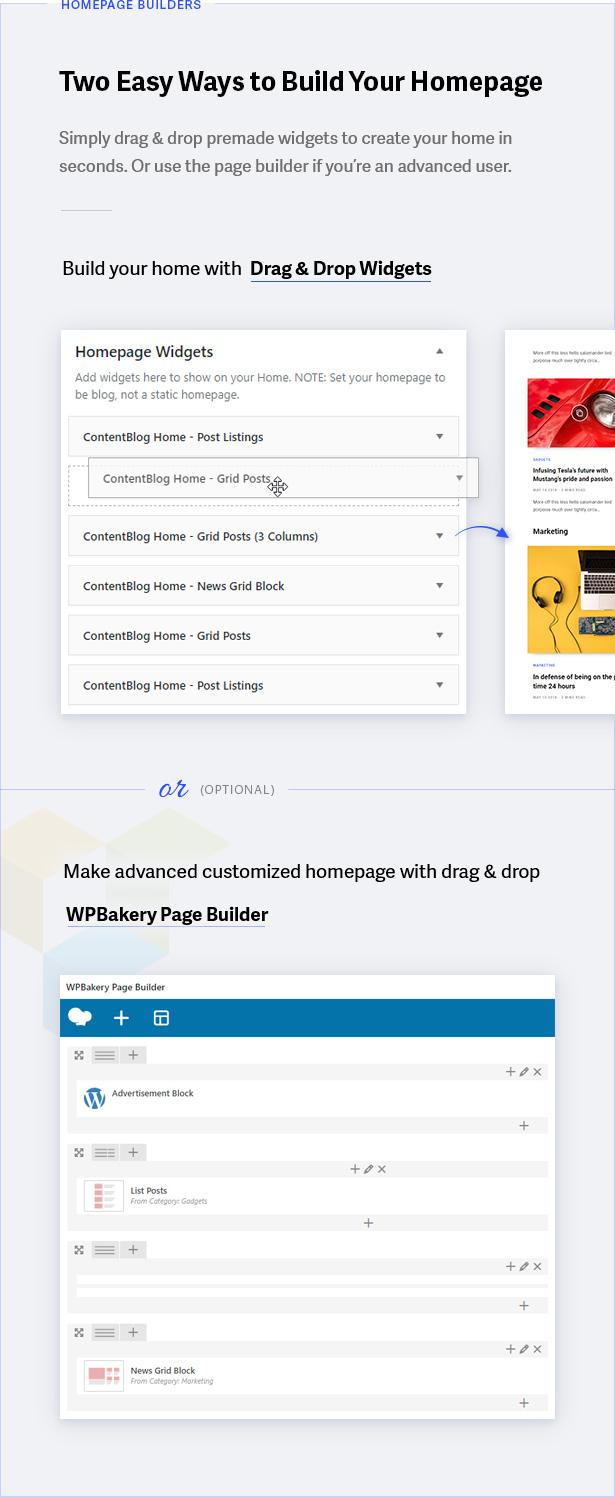 3 build home - Contentberg - Content Marketing & Personal Blog