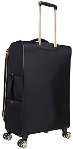 """313zwCx8iLL. AC  - Kenneth Cole Reaction Women's Chelsea 24"""" Chevron Quilted Softside Expandable 8-Wheel Spinner Checked Suitcase, Black, Inch"""