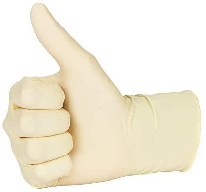 31UrqxRh93L. AC  - Disposable General Purpose Latex Gloves - Powder Free Medium (1 Pack) (Medium)