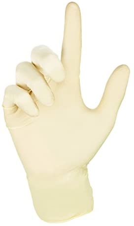 31dZ KvJxCL. AC  - Disposable General Purpose Latex Gloves - Powder Free Medium (1 Pack) (Medium)