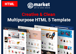4 html - eMarket - Multi-purpose MarketPlace OpenCart 3 Theme (30+ Homepages & Mobile Layouts Included)