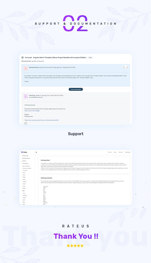 4 - Cuba- Bootstrap 4 & 5 HTML, React, Angular 11, VueJS & Laravel Admin Dashboard Template