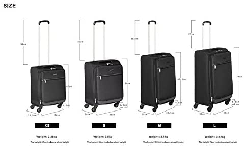 41 9q985g2L. AC  - Amazon Basics Softside Spinner Luggage Suitcase - 30.9 Inch, Black