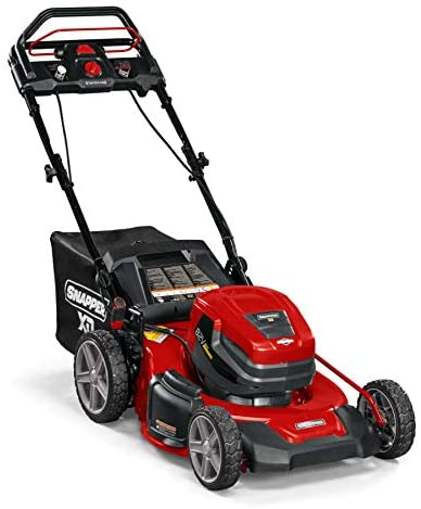 410UwoePWEL. AC  - Snapper XD 82V MAX Step Sense Cordless Electric 21-Inch Lawn Mower Kit with (2) 2.0 Batteries and (1) Rapid Charger
