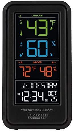 414q5kJoXQL. AC  - La Crosse Technology S82967-INT Wireless Digital Personal Weather Station, Black