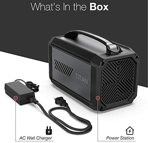 418iwLc27vL. AC  - X-Doria Raptic Titan Portable Power Station (Formerly Defense Titan), 225Wh Backup Lithium Battery, Generator for Outdoors Camping Festivals Travel Emergency
