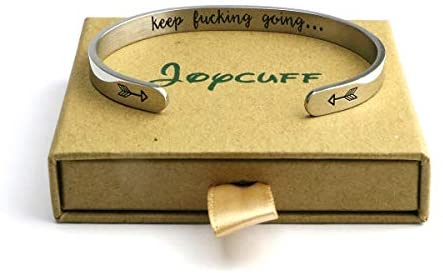 41RiuZkCTDL. AC  - Joycuff Inspirational Bracelets for Women Mom Personalized Gift for Her Engraved Mantra Cuff Bangle Crown Birthday Jewelry