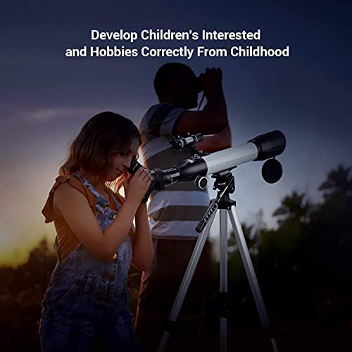 41SOqWQPfiS. AC  - [Upgraded] Telescope, Astronomy Telescope for Adults, 60mm Aperture 500mm AZ Mount Astronomical Refracting Telescope for Kids Beginners with Adjustable Tripod, Phone Adapter, Nylon Bag