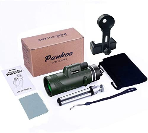 41T9N+h3c3L. AC  - Pankoo 40X60 Monocular High Power Monocular Scope for Bird Watching Traveling Concert Sports Game with Phone Adapter Tripod