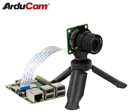 41U7undGhqL. AC  - Arducam Lens for Raspberry Pi HQ Camera, Wide Angle CS-Mount Lens, 6mm Focal Length with Manual Focus