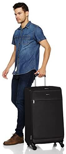 41dKWtHmmmL. AC  - Amazon Basics Softside Spinner Luggage Suitcase - 30.9 Inch, Black