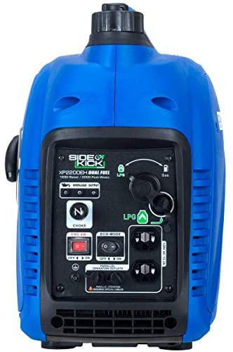 41hByK0KbOL. AC  - DuroMax XP2200EH Dual Fuel Portable Inverter Generator-2200 Watt Gas or Propane Powered Tailgate, Camping & RV Ready, 50 State Approved, Blue
