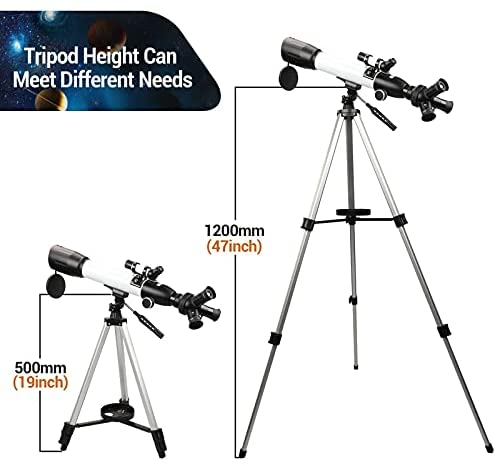 41iAefJJ83S. AC  - [Upgraded] Telescope, Astronomy Telescope for Adults, 60mm Aperture 500mm AZ Mount Astronomical Refracting Telescope for Kids Beginners with Adjustable Tripod, Phone Adapter, Nylon Bag