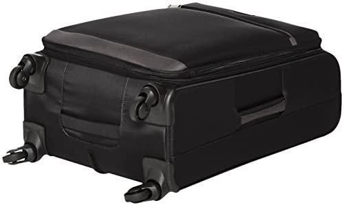41kThGHgwlL. AC  - Amazon Basics Softside Spinner Luggage Suitcase - 30.9 Inch, Black