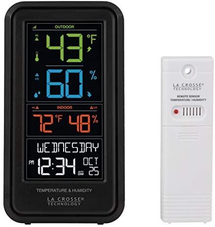 41n9AX488lL. AC  - La Crosse Technology S82967-INT Wireless Digital Personal Weather Station, Black