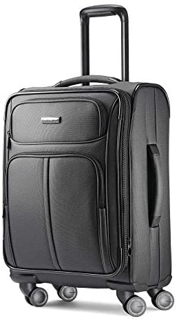 41pe O LCnL. AC  - Samsonite Leverage LTE Softside Expandable Luggage with Spinner Wheels, Charcoal, Carry-On 20-Inch