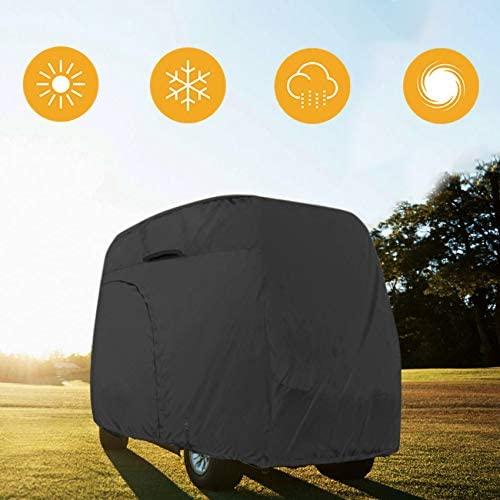 41t0mClO9TL. AC  - Explore Land 600D Waterproof Golf Cart Cover Universal Fits for Most Brand 4 Passenger Golf Cart