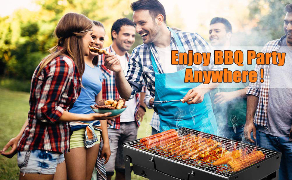 4608598a ddb0 4532 a58c 87fb5356da3c.  CR0,0,970,600 PT0 SX970 V1    - UTTORA Barbecue Grill, Charcoal Grill Portable Folding BBQ Grill Barbecue Desk Tabletop Outdoor Stainless Steel Smoker BBQ for Picnic Garden Terrace Camping Travel 15.35''x11.41''x2.95''