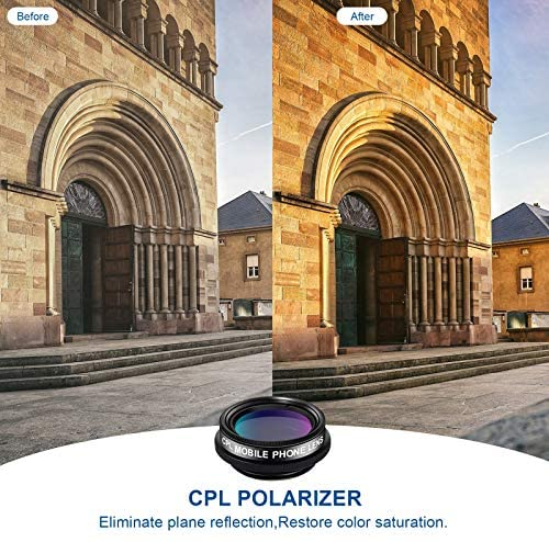 51+V+oq99tL. AC  - LIGINN 7 in 1 Phone Camera Lens Kit Wide Angle Lens & Macro +Fisheye Lens +2X Telephoto Zoom Lens+Kaleidoscope/CPL+ND Radial Filter for iPhone Smartphones/Pixel/Samsung/Android Phones Camera