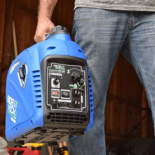 5111Ff7B14L. AC  - DuroMax XP2200EH Dual Fuel Portable Inverter Generator-2200 Watt Gas or Propane Powered Tailgate, Camping & RV Ready, 50 State Approved, Blue