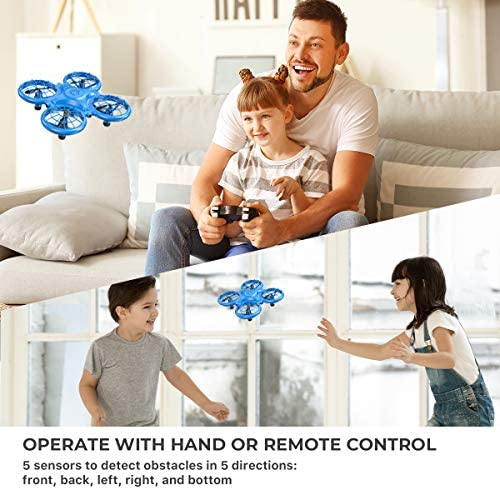 516NUCMiHOL. AC  - Dragon Touch DK01 Mini Drones for Kids, Multiple Remote Controls-Hand Operated RC Quadcopter, G-Sensor Mode, 3D Flips, Altitude Hold, Headless Mode, One Key Return&Speed Adjustment