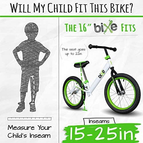 "51BbscVXCRL. AC  - Bixe 16"" Pro Balance Bike for for Big Kids 5, 6, 7, 8 and 9 Years Old"