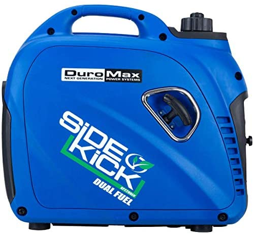 51D2RtadFQL. AC  - DuroMax XP2200EH Dual Fuel Portable Inverter Generator-2200 Watt Gas or Propane Powered Tailgate, Camping & RV Ready, 50 State Approved, Blue