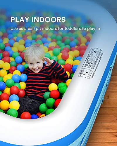 """51Jfk9+C8TL. AC  - COOYES Inflatable Pool, Swimming Pool for Kids 118"""" X 72"""" X 20"""" Full-Sized Inflatable Kiddie Pool for Outdoor, Garden, Summer Water Party"""