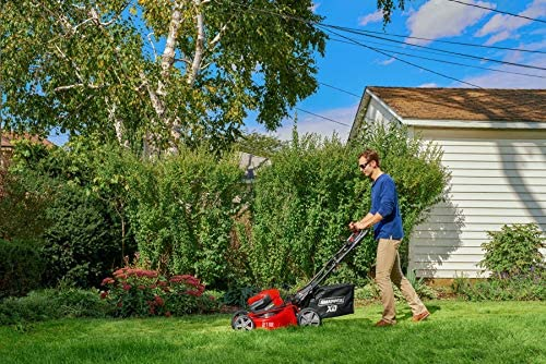 51Jnoy+QlsL. AC  - Snapper XD 82V MAX Step Sense Cordless Electric 21-Inch Lawn Mower Kit with (2) 2.0 Batteries and (1) Rapid Charger