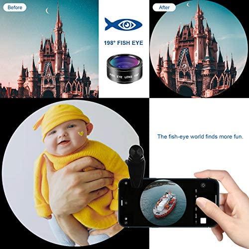 51JyeWJk4XL. AC  - LIGINN 7 in 1 Phone Camera Lens Kit Wide Angle Lens & Macro +Fisheye Lens +2X Telephoto Zoom Lens+Kaleidoscope/CPL+ND Radial Filter for iPhone Smartphones/Pixel/Samsung/Android Phones Camera