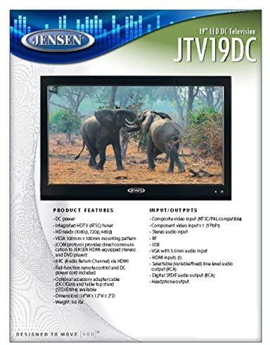 51NCI kwUTL. AC  - Jensen JTV19DC HD Ready 19 Inch 12V DC RV LED TV with Integrated HDTV (ATSC) Tuner, HD Ready (1080p, 720p, 480p), 1366 x 768 Full HD, Dual Function Wireless Remote Control, Black