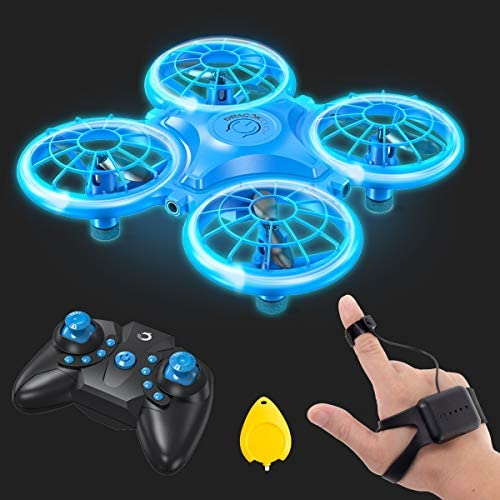 51PnEa0FFcL. AC  - Dragon Touch DK01 Mini Drones for Kids, Multiple Remote Controls-Hand Operated RC Quadcopter, G-Sensor Mode, 3D Flips, Altitude Hold, Headless Mode, One Key Return&Speed Adjustment