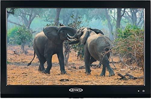 51PzmXdwVwL. AC  - Jensen JTV19DC HD Ready 19 Inch 12V DC RV LED TV with Integrated HDTV (ATSC) Tuner, HD Ready (1080p, 720p, 480p), 1366 x 768 Full HD, Dual Function Wireless Remote Control, Black