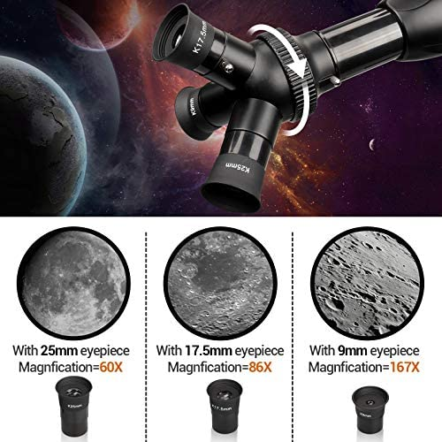 51Q0 qtc6IL. AC  - [Upgraded] Telescope, Astronomy Telescope for Adults, 60mm Aperture 500mm AZ Mount Astronomical Refracting Telescope for Kids Beginners with Adjustable Tripod, Phone Adapter, Nylon Bag