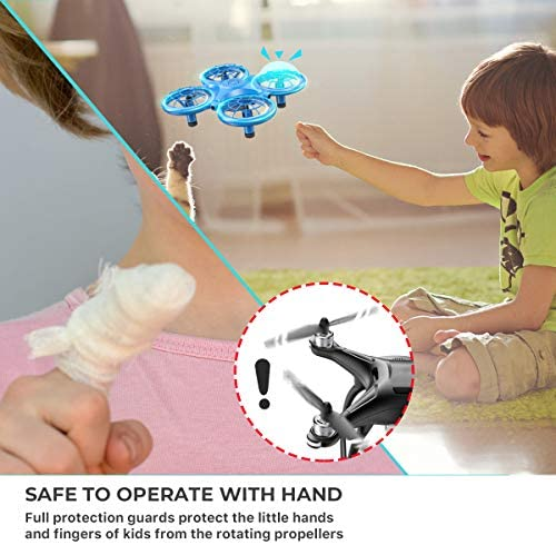 51QNWJd72dL. AC  - Dragon Touch DK01 Mini Drones for Kids, Multiple Remote Controls-Hand Operated RC Quadcopter, G-Sensor Mode, 3D Flips, Altitude Hold, Headless Mode, One Key Return&Speed Adjustment