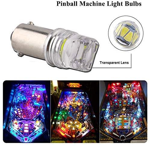 51RJ5ll6Q0L. AC  - EverBright Pack of 15 BA9S 44 47 755 756 1847 1895 Bulb 6V 6.3V Bayonet Led Bulb for Pinball Led Bulbs Pinall Machine Light Bulb Lamp, White